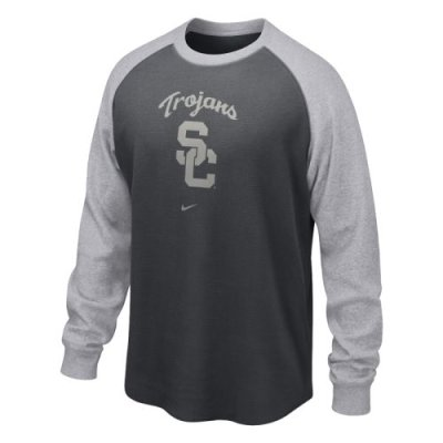 Nike Usc Trojans Long Sleeve Waffle Crew Shirt