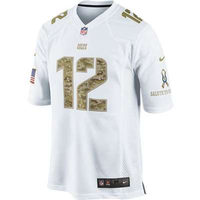 8acf8892f ... coupon nike indianapolis colts andrew luck camo salute to service  special edition game jersey white 12