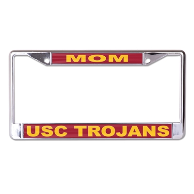 Usc Metal Quot Mom Quot Inlaid Acrylic License Plate Frame