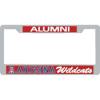 Arizona Wildcats Alumni Metal License Plate Frame W Domed
