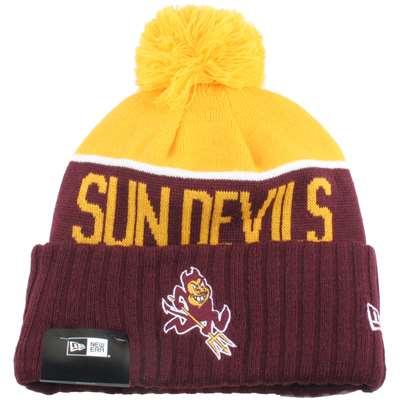 dc7321158b9 ... cuff beanie hat ncaa 41d94 5f4da  uk arizona state sun devils new era  sport knit pom beanie 52c50 a0d6d