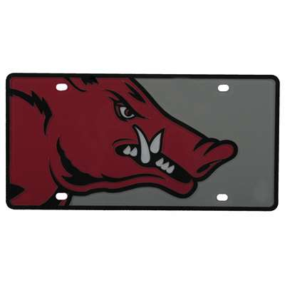 Arkansas Razorbacks Full Color Mega Inlay License Plate
