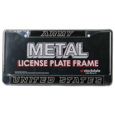 Army Black Knights Metal License Plate Frame W Domed Insert
