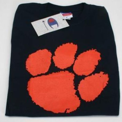 Clemson Paw Logo T Shirt Navy
