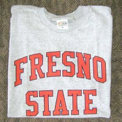 Fresno State T Shirt Arch Print Heather