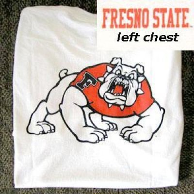 Fresno State T Shirt Logo Front And Back White