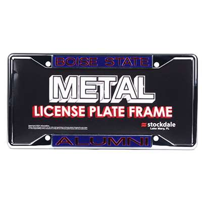 Boise State Metal Alumni Inlaid Acrylic License Plate