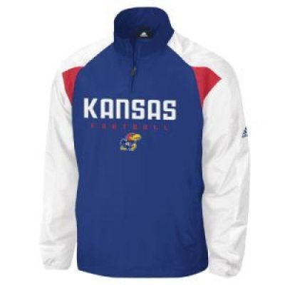 kansas jayhawks adidas coaches pullover jacket. Black Bedroom Furniture Sets. Home Design Ideas