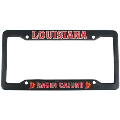 Louisiana Lafayette Ragin Cajuns Plastic License Plate Frame