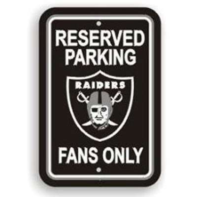 Oakland Raiders Fan Parking Sign