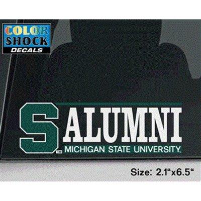 Michigan State Spartans Decal S W Alumni Over Michigan
