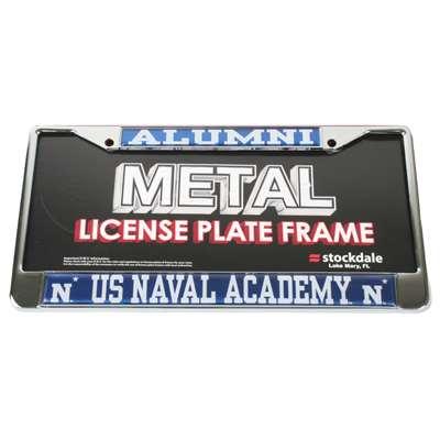 Navy Midshipmen Alumni Metal License Plate Frame W Domed