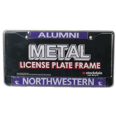 Northwestern Wildcats Alumni Metal License Plate Frame W