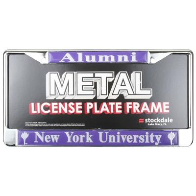Nyu Violets Alumni Metal License Plate Frame W Domed Insert