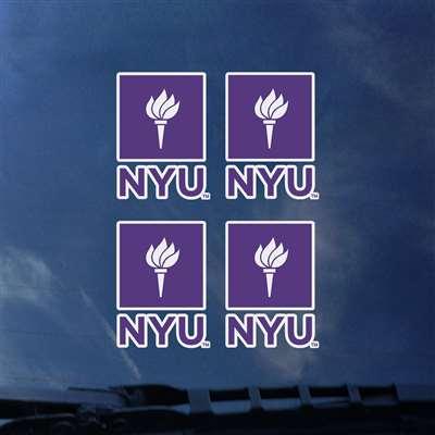 NYU Bobcats Transfer Decals - Set of 4 da574f4b25f0