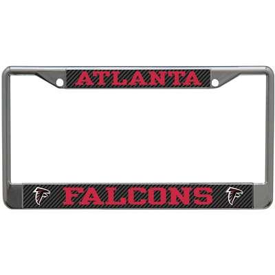 Atlanta Falcons Metal License Plate Frame Carbon Fiber