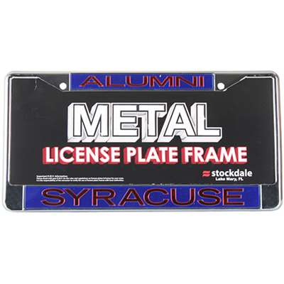 Syracuse Orange Metal Alumni Inlaid Acrylic License Plate