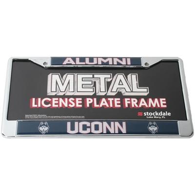 Uconn Huskies Alumni Metal License Plate Frame W Domed