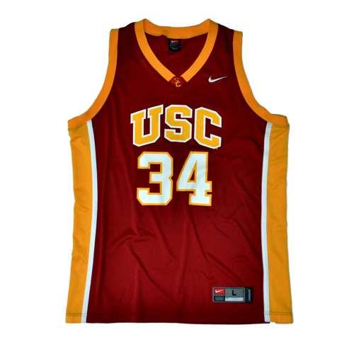 quality design 18212 c53a8 Nike Usc Trojans Replica Basketball Jersey - #34 Crimson