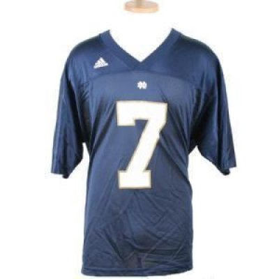 buy online 370aa 3060d Notre Dame Fighting Irish Replica Adidas Fb Jersey - Navy #7