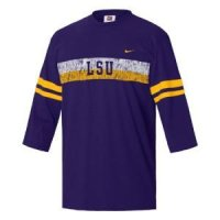 Lsu Nike 3/4 Sleeve Touchback Top
