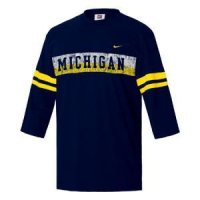 Michigan Nike 3/4 Sleeve Touchback Top