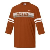 Texas Nike 3/4 Sleeve Touchback Top