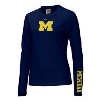 Michigan Women's Nike Classic L/s Logo T-shirt