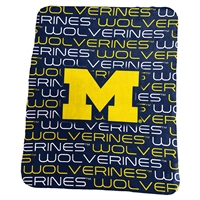 Michigan Classic Fleece Blanket