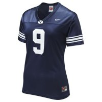 Nike Byu Cougars Womens Replica Football Jersey - #9 Navy