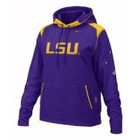 Lsu Women's Nike Face Mask Performance Hoody