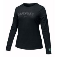 Hawaii Women's Nike Long-sleeve Arch Tee