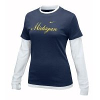 Michigan Women's Nike Double Layer Script Tee