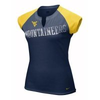 West Virginia Women's Nike Mascot Tissue Raglan Top