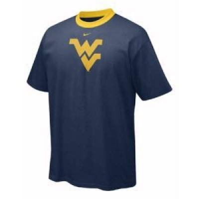 West Virginia Nike S/s Contrast Neck Logo Tee