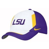 new style 132c3 3bf4c Lsu Tigers Nike Coaches Swoosh Flex Cap - One Size - Adult - Purple