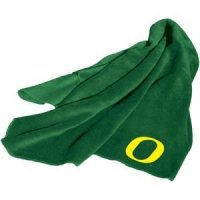 Green Oregon Ducks Fleece Throw Blanket