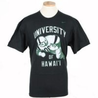 Hawaii Nike Old School Fb Tee