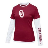 Oklahoma Women's L/s College 2-in-1 Tee
