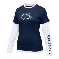 Penn State Women's L/s College 2-in-1 Tee