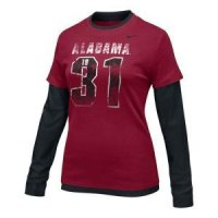Alabama Women's Nike L/s Double Layer Tee