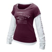 Mississippi State Women's Nike Long-sleeve Cross Campus Tee
