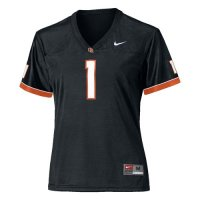 Nike Oregon State Beavers Womens Replica Football Jersey - #1 Black