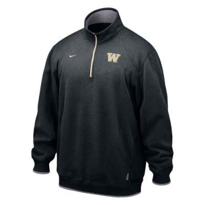 pretty nice 3270f 8b710 Nike Washington Huskies 1/4 Zip Conference Fleece Pull-over Jacket