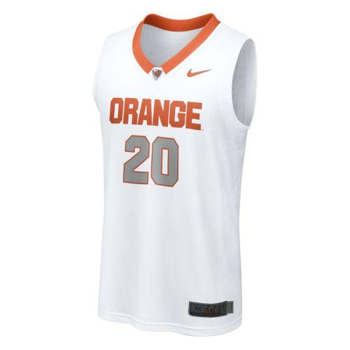 Nike Syracuse Orange Replica Basketball Jersey 20 White