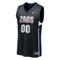 Nike Gonzaga Bulldogs Replica Basketball Jersey - #00 Black