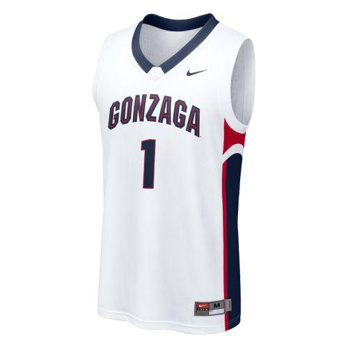 Jack Beach Gonzaga Bulldogs Basketball Jersey-White
