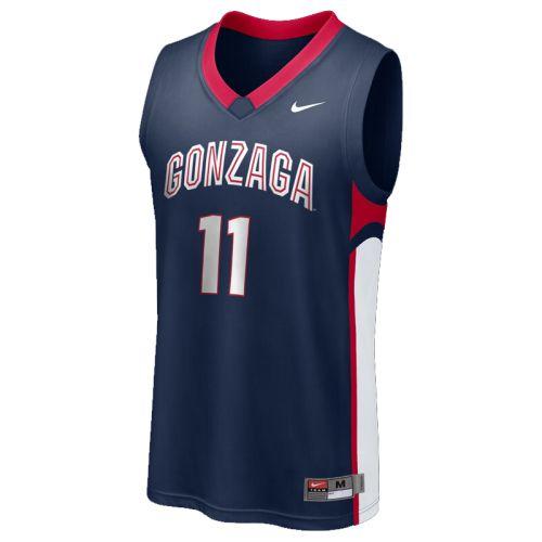 cheap for discount 552d1 43175 Nike Gonzaga Bulldogs Replica Basketball Jersey - #11 Navy