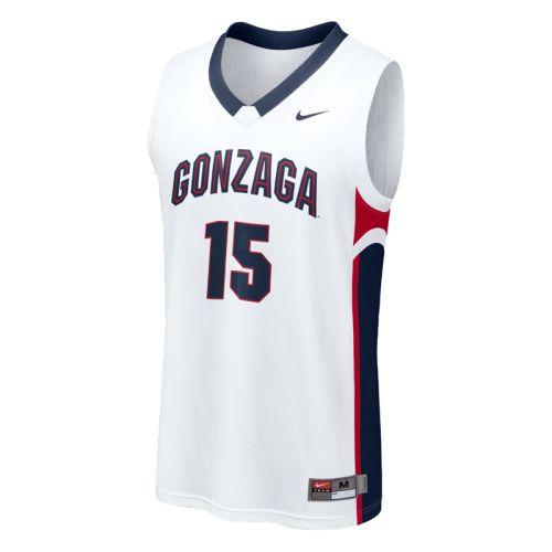 on sale 66c15 c6e55 Nike Gonzaga Bulldogs Basketball Jersey - Replica #15