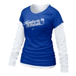 Nike Kentucky Wildcats Womens Cross Campus Double Layer T-shirt